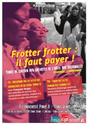 Soutien aux femmes de chambre grévistes de l'hôtel Ibis Batignolles